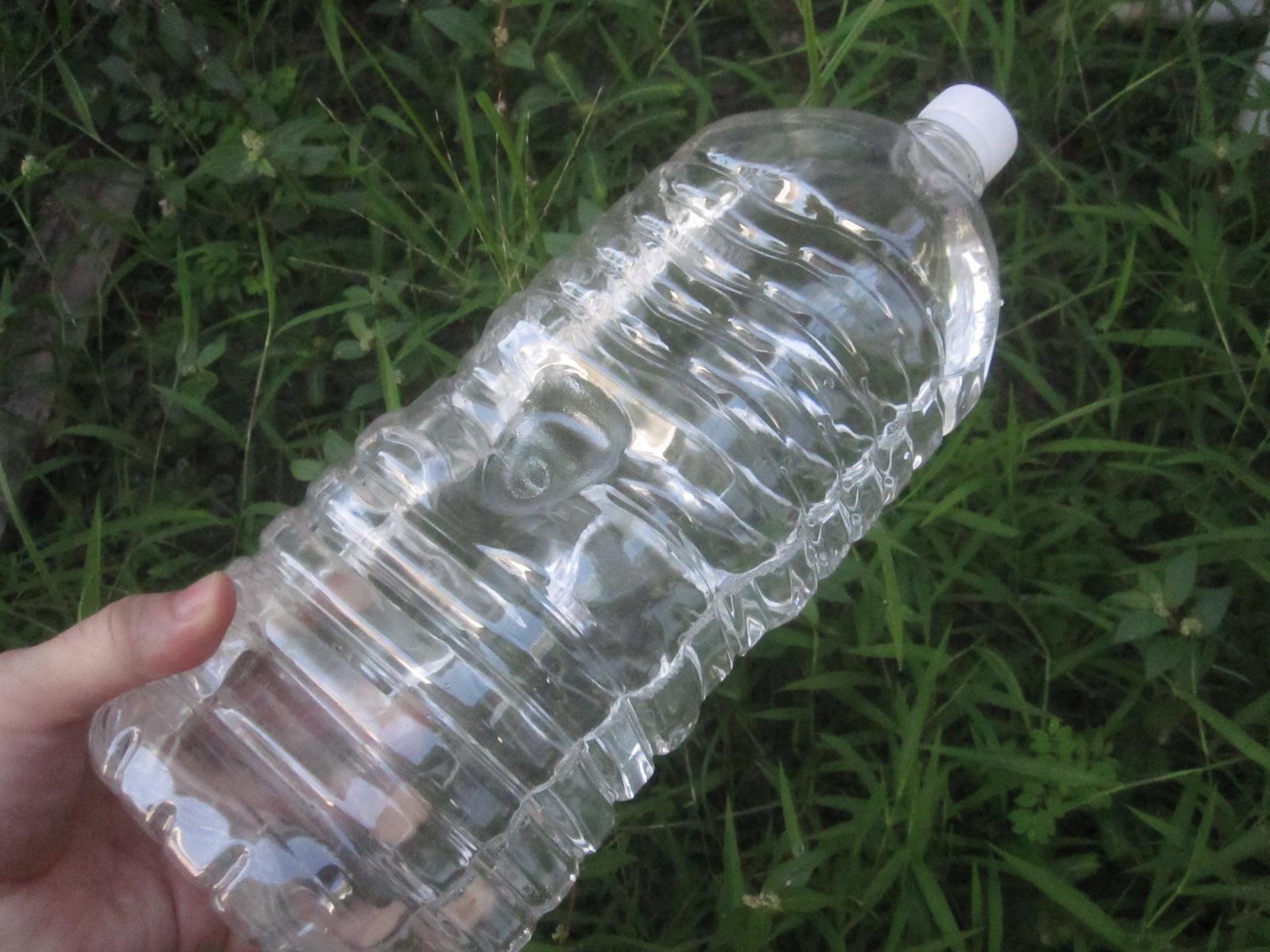 蚊の幼虫ボウフラを駆除できず使い道が無くなったペットボトルの海水